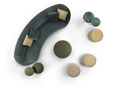Curved fabric sofa MOON | Curved sofa