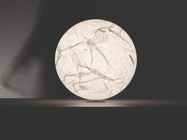 LED japanese paper table lamp MOON | Table lamp