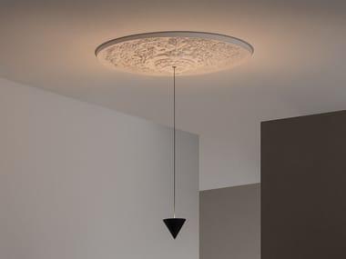 Lampada a sospensione a LED in gesso e alluminio MOONBLOOM