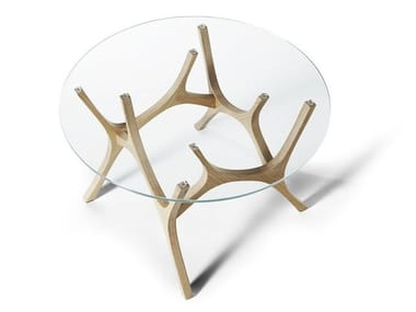Round glass coffee table MOOSE