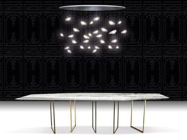 Design steel dining table MOOV'