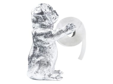 Synthetic material toilet roll holder MOPS CHROME