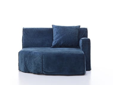 Upholstered fabric day bed with removable cover MORE 22 L / R