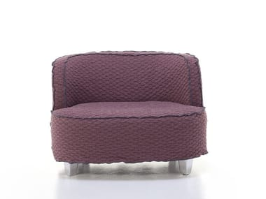 Fabric armchair with removable cover with armrests MORE 24