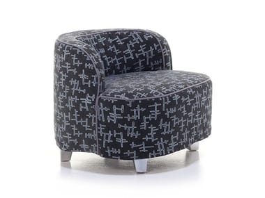 Fabric armchair with removable cover with armrests MORE 25