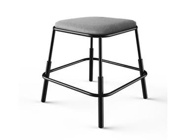 Upholstered fabric stool MORF | Stool