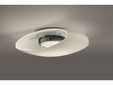 Satin glass ceiling light MORIS AP