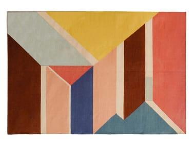 Tappeto fatto a mano rettangolare a motivi geometrici MORNING DREAM