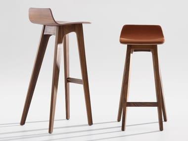 High wooden stool MORPH BAR