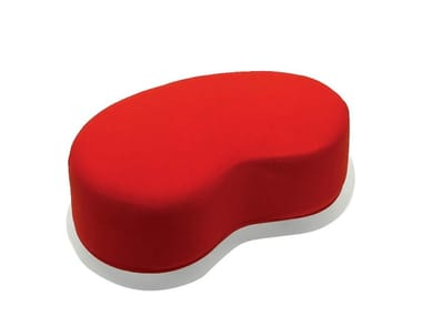Upholstered fabric pouf with removable lining MORRIS | Pouf