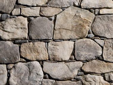 Rivestimento di facciata in pietra ricostruita MORSONE P37