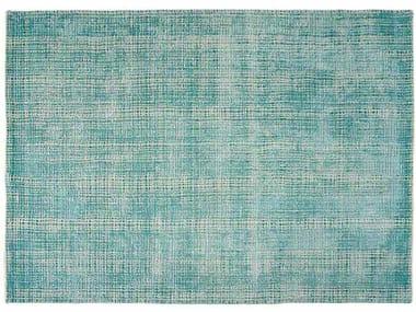 Handmade rectangular fabric rug MOSAÎC