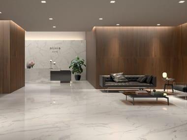 Pavimento in gres porcellanato effetto marmo MOTIF EXTRA CALACATTA GOLD