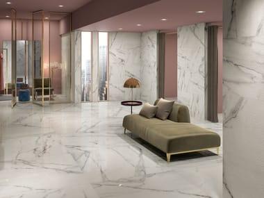 Pavimento in gres porcellanato effetto marmo MOTIF EXTRA CALACATTA SILVER