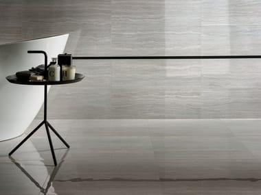 Pavimento in gres porcellanato effetto marmo MOTIF EXTRA TRAVERTINO SILVER