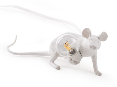 LED resin table lamp MOUSE LAMP LIE DOWN - LOP