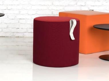 Round fabric pouf MOVE | Round pouf