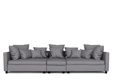 5 Seat Sofa Contemporary Sofa Fabric Commercial 5 Person