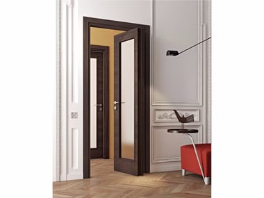 Wood and glass pivot sliding door MS | Pivot sliding door