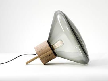 Lampadaire LED en verre soufflé MUFFINS | Lampadaire