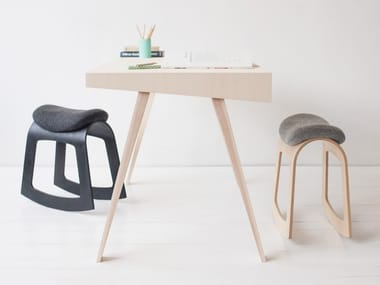 Rocking plywood stool MUISTA