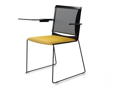 Cadeira de conferência trenó com prancheta MULTI MESH BR TAV