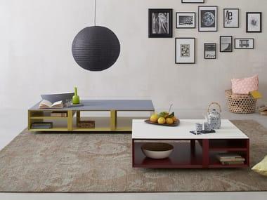 Tavolino laccato con portariviste MULTIBOX | Tavolino