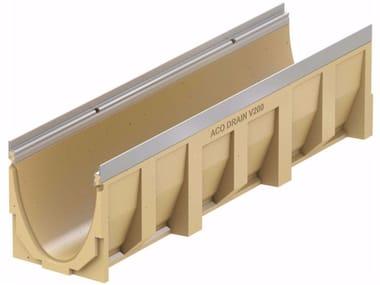 Canale di drenaggio in calcestruzzo polimerico ACO DRAIN® MULTILINE V200 - 1000 mm