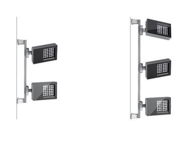 Proiettore per esterno a LED orientabile in alluminio MULTIPLATEA