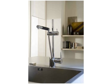 1 hole kitchen mixer tap with pull out spray MULTIPLO