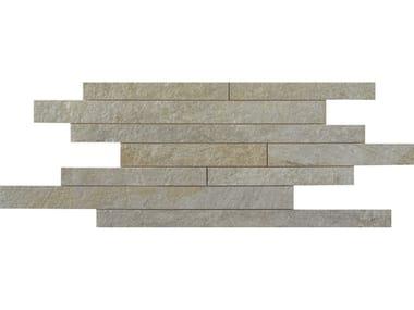 Pavimento/rivestimento in gres porcellanato effetto pietra MULTIQUARTZ | Muretto Gray