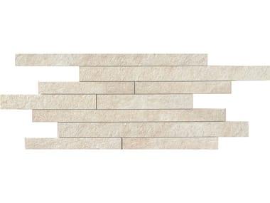 Pavimento/rivestimento in gres porcellanato effetto pietra MULTIQUARTZ | Muretto White
