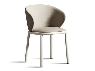 Fabric chair with armrests MUN