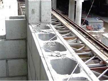Traliccio in acciaio il rinforzo orizzontale delle murature MURFOR
