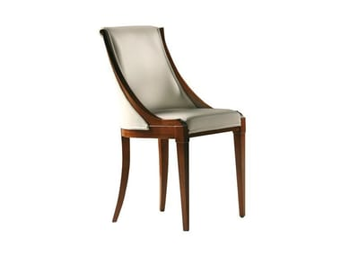 Upholstered Cherry Wood Chair MUSA | Chair