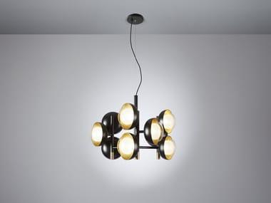 Direct light Borosilicate glass pendant lamp MUSE   Metal pendant lamp