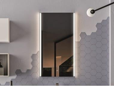 Specchio rettangolare con connessione Bluetooth per bagno MUSIC | Specchio