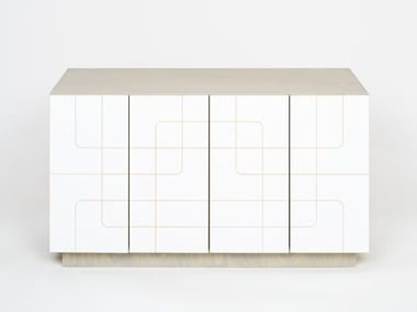 Plywood sideboard with doors MUSTER | Sideboard
