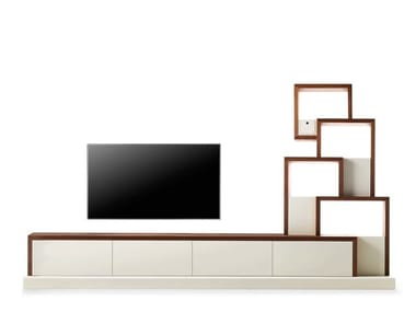 Modular TV cabinet with shelves MY CAT - 730102 | TV cabinet
