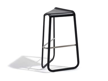 High sled base stool with footrest MYG | High stool