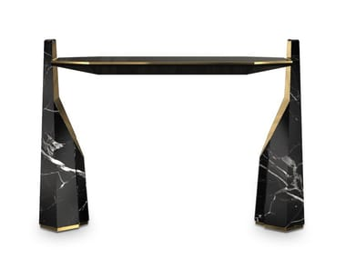 Rectangular Nero Marquina marble console table MYLLO | Console table