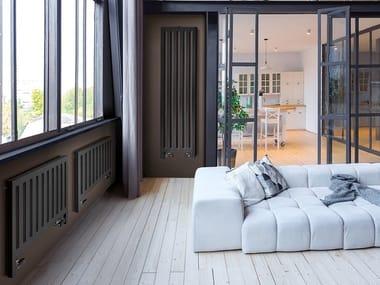 Termoarredo ad acqua calda elettrico in acciaio in stile moderno a parete MYNEW DRESS