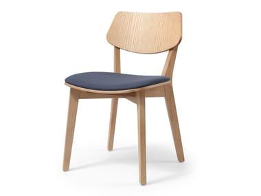 Cadeira de madeira com almofada integrada MYRANDA | Cadeira com almofada integrada