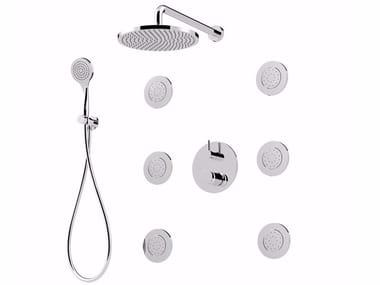 Mitigeur de douche avec douchette avec tête de douche MYRING - FMR0013-3KBS