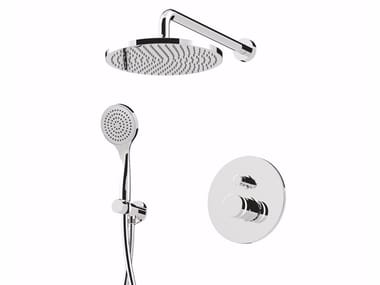 Single handle shower mixer with diverter with overhead shower MYRING - FMR0013KB