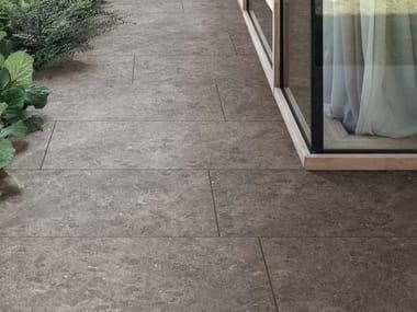 Pavimento per esterni in gres porcellanato effetto pietra MYSTONE GRIS DU GENT 20 | Taupe