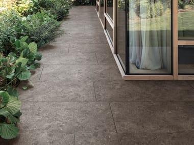 Pavimento/rivestimento in gres porcellanato effetto pietra MYSTONE GRIS DU GENT