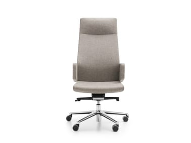 Swivel office chair with 5-Spoke base with armrests MYTURN 10S/10Z