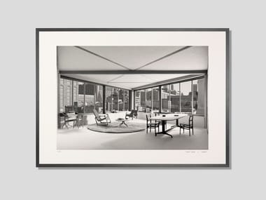 Architectural model photographic fine art print MANHATTAN LIVING ROOM