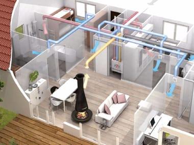 Mechanical forced ventilation system VMC Thermodynamics